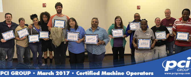 2017 certified machine operators