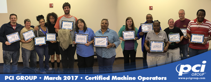 View Larger Image 2017 Certified Machine Operators