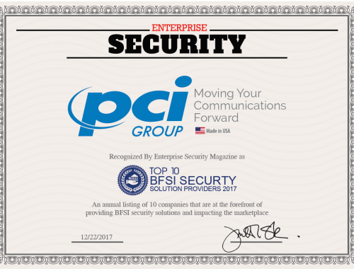Enterprise Security Awards PCI Group Top 10 BFSI Security Solution Providers for 2017